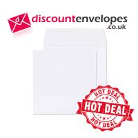 Bulk Square Wallet Gummed White 100×100mm 100gsm