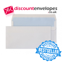 Wallet Self Seal White DL 110×220mm 80gsm ES
