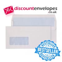Wallet Self Seal Window White DL 110×220mm 80gsm ES
