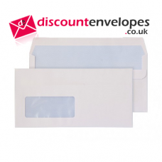 Wallet Peel and Seal Window White DL 110×220mm 100gsm
