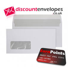 Wallet Peel and Seal Window Bright White DL 110×220mm 120gsm