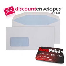 Mailer Gummed Low Window White DL+ 121×235mm 90gsm