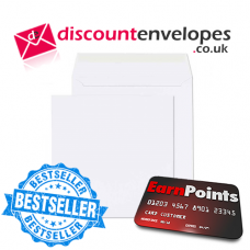 Square Wallet Peel and Seal White 140×140mm 100gsm