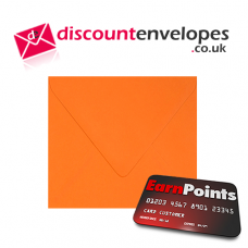 Square Banker Invitation Gummed Orange 155×155mm 100gsm