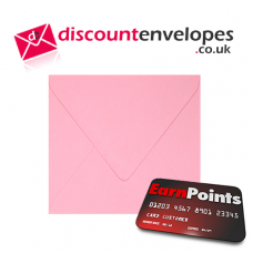 Square Banker Invitation Gummed Pink 155×155mm 100gsm