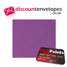 Square Banker Invitation Gummed Purple 155×155mm 100gsm