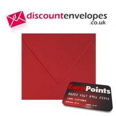 Square Banker Invitation Gummed Scarlet 155×155mm 100gsm