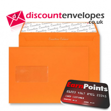 Wallet Peel and Seal Window Pumpkin Orange C5 162×229mm 120gsm