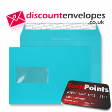 Wallet Peel and Seal Window Cocktail Blue C5 162×229mm 120gsm