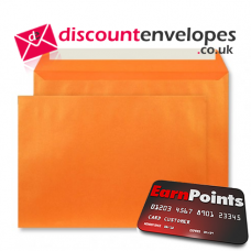 Wallet Peel and Seal Fireburst Orange C5 162×229mm 120gsm