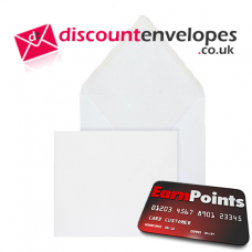 Square Banker Invitation Gummed White 165×165mm 100gsm