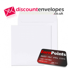 Square Wallet Peel and Seal White 170×170mm 100gsm