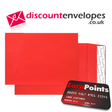 Gusset Pocket Peel and Seal Pillar Box Red C4 324×229×25mm 140gsm