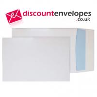 Gusset Pocket Boardback Peel and Seal White C4 324×229×50mm 120gsm