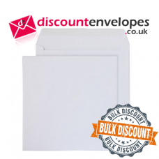 Square Wallet Gummed White 240×240mm 100gsm