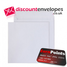 Square Wallet Peel and Seal White 240×240mm 100gsm