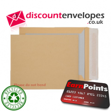 Board Back Pocket Peel and Seal Manilla 267×216mm 120gsm