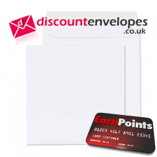 Square Wallet Peel and Seal White 270×270mm 100gsm