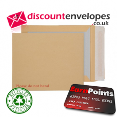 Board Back Pocket Peel and Seal Manilla 318×267mm 120gsm