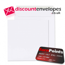 Square Wallet Peel and Seal White 330×330mm 120gsm