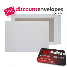 Board Back Pocket Peel and Seal White B4 352×250mm 120gsm