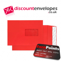 Gusset Pocket Window Peel and Seal Pillar Box Red C5 229×162×25mm 140gsm