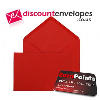Banker Invitation Gummed Pillar Box Red C5 162×229mm 100gsm