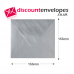 Square Banker Invitation Gummed Silver 155×155mm 100gsm