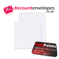 Square Wallet Gummed White 100×100mm 100gsm