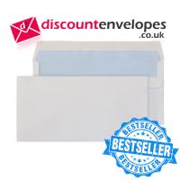 Wallet Self Seal White DL 110×220mm 80gsm ES