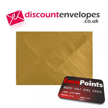 Wallet Gummed Gold C6 114×162mm 100gsm
