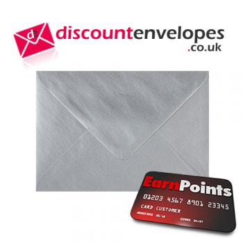 Wallet Gummed Silver C6 114×162mm 100gsm