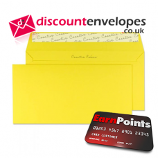 Wallet Peel and Seal Banana Yellow DL+ 114×229mm 120gsm