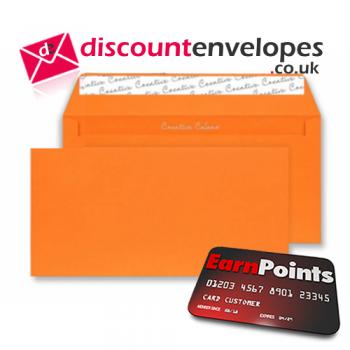 Wallet Peel and Seal Pumpkin Orange DL+ 114×229mm 120gsm