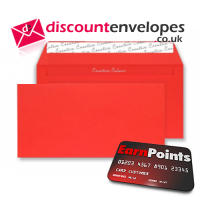 Wallet Peel and Seal Pillar Box Red DL+ 114×229mm 120gsm