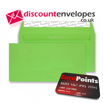 Wallet Peel and Seal Lime Green DL+ 114×229mm 120gsm