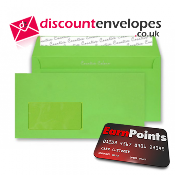 Wallet Peel and Seal Window Lime Green DL+ 114×229mm 120gsm