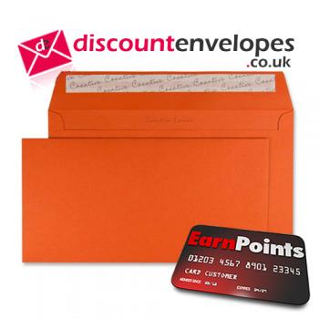 Wallet Peel and Seal Marmalade Orange DL+ 114×229mm 120gsm