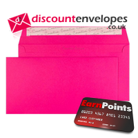 Wallet Peel and Seal Shocking Pink DL+ 114×229mm 120gsm