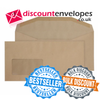 Mailer Gummed Window Manilla DL+ 114×229mm 80gsm