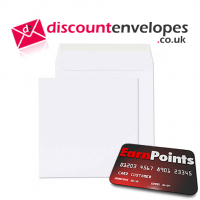 Square Wallet Peel and Seal White 155×155mm 100gsm