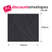 Square Banker Invitation Gummed Black 155×155mm 100gsm