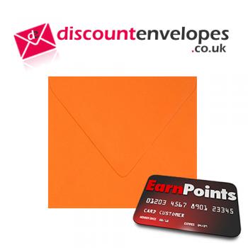 Square Banker Invitation Gummed Orange 155×155mm 100gsm