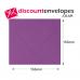 Square Banker Invitation Gummed Purple 155×155mm 100gsm