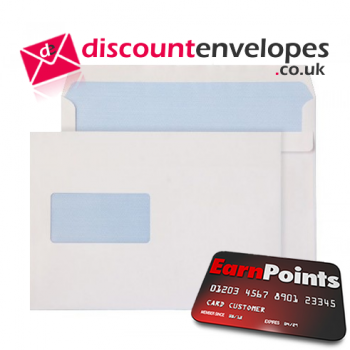 Wallet Peel and Seal Window White C5 162×229mm 120gsm