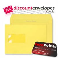 Wallet Peel and Seal Window Banana Yellow C5 162×229mm 120gsm