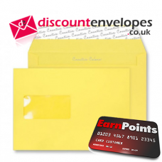Wallet Peel and Seal Window Banana Yellow C5 162×229mm 120gsm