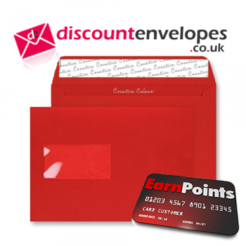 Wallet Peel and Seal Window Pillar Box Red C5 162×229mm 120gsm