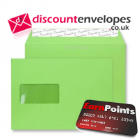 Wallet Peel and Seal Window Lime Green C5 162×229mm 120gsm