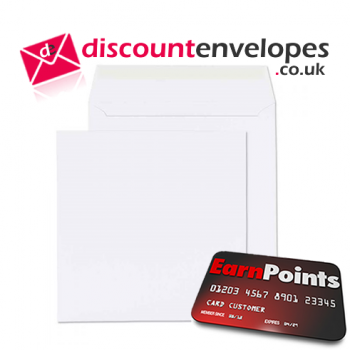 Square Wallet Peel and Seal White 165×165mm 100gsm